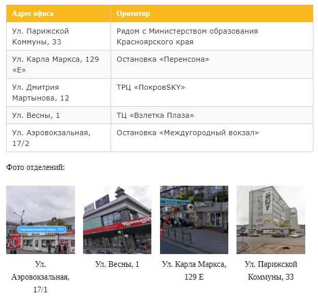 отделения билайн в центральном районе красноярска