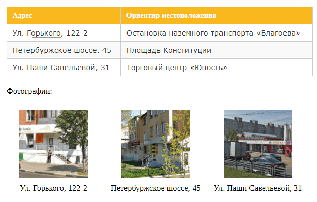 офисы оператора в заволжском районе твери