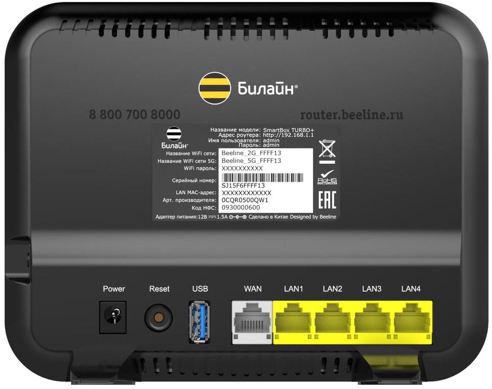 Обзор роутера Smart Box Turbo от Билайн